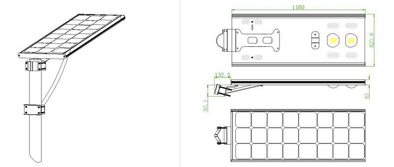 integrated solar street light with ce  tuv  ul  cul sld